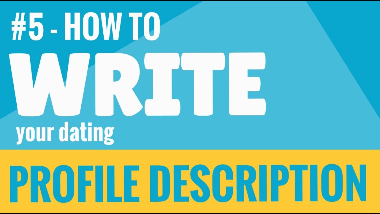 how to write a profile