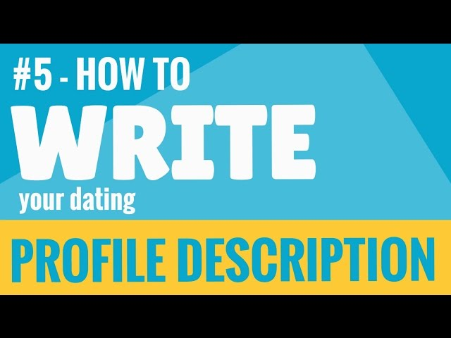 writing your dating profile