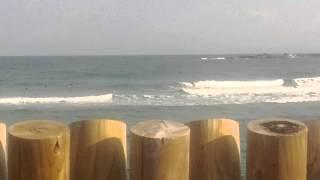 今日の波.