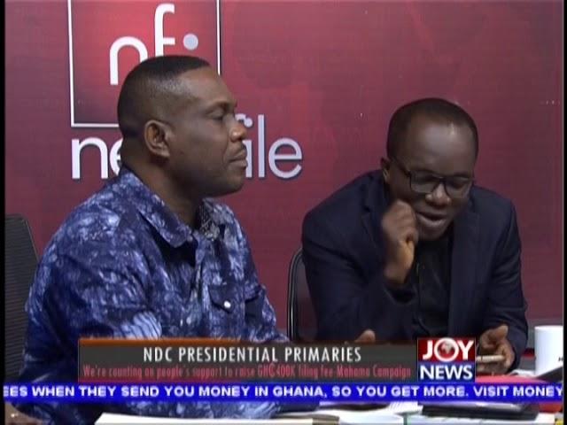 NDC Presidential Primaries - Newsfile on JoyNews (1-12-18)