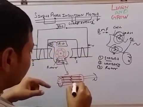 SINGLE PHASE INDUCTION MOTOR (हिन्दी )!LEARN AND GROW