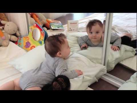 Funny Baby in the Mirror