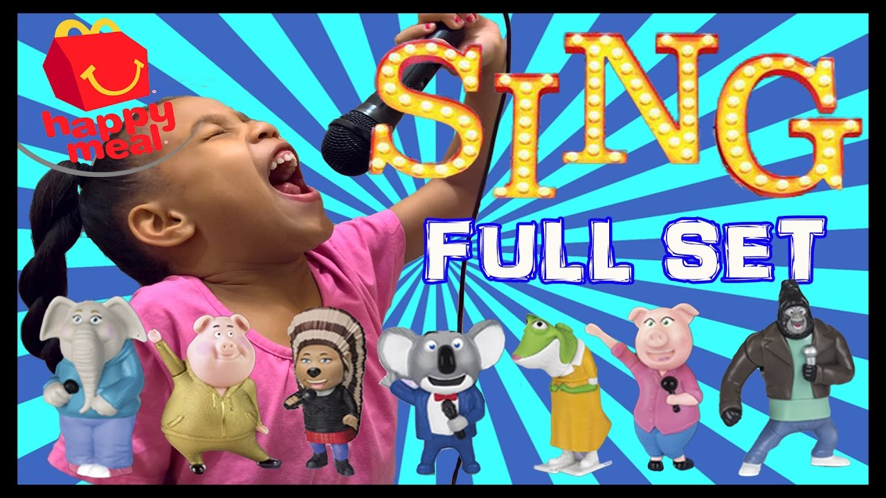 SING McDonalds Happy Meal FULL SET Toys & McPlay App | Toy ...