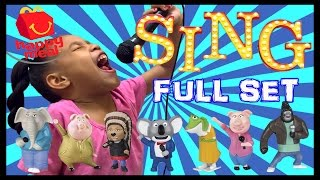 sing mcdonalds happy meal full set toys mcplay app   toy review