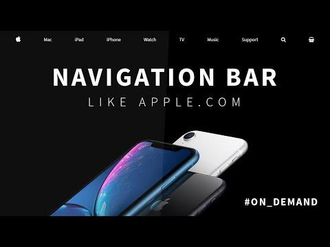 Navigation Bar Like Apple.com | Floating Search Bar Using Html CSS And JQuery