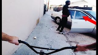RIDING BMX IN LB COMPTON GANG ZONES 2 (BMX IN THE HOOD) thumbnail