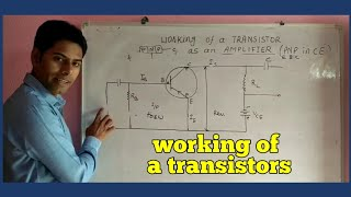 Working of a transistor as an amplifier in common emitter mode in hindi ||physics|/class12