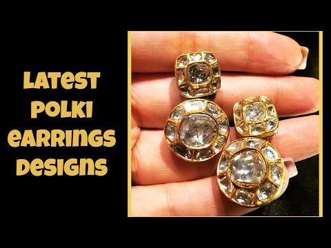 Latest Polki Earrings Designs