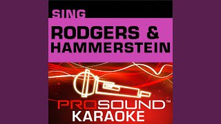 We Kiss In A Shadow (Karaoke Instrumental Track) (In the Style of The King and I)