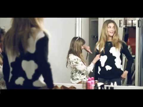 Backstage shoot with Ana Beatriz Barros for ELLE Bulgaria/may issue 2015
