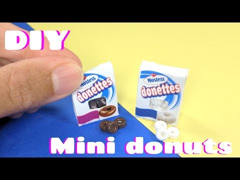 DIY Miniature Donuts - Hostess Inspired Donettes - Dollhouse Food