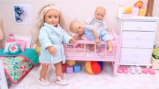 Mommy and Twin Baby Dolls Family Routine! Compilation Best Video by Play Dolls!