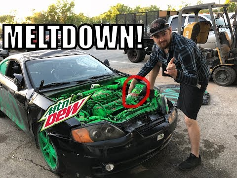 I Changed My OIL with MOUNTAIN DEW!!