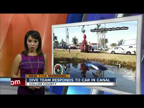 Collier County dive team responds to car in a canal