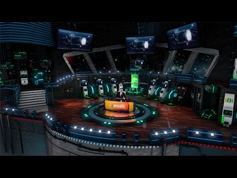 3D Virtual Studio - Spaceship, Laborotory, Sci-fi | After Effects Template