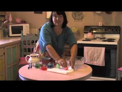 Bernadette Peña Making Cascarones