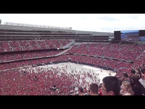 National Anthem - 2015 Chicago Blackhawks Rally