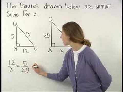 Similar Triangles Mathhelp Com Geometry Help Youtube