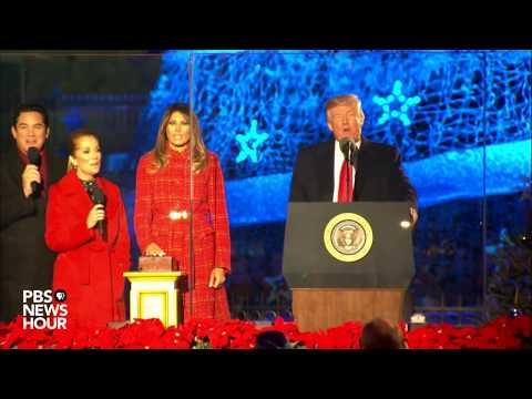 WATCH: President Trump hosts annual White House Christmas tree lighting