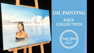 """Photorealistic oil painting """"Très Jolie""""   TIME-LAPSE   by artist Isabel Silla"""