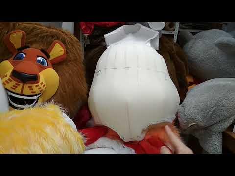 Вариант вставки животика для ростовой куклы Мишка Тедди