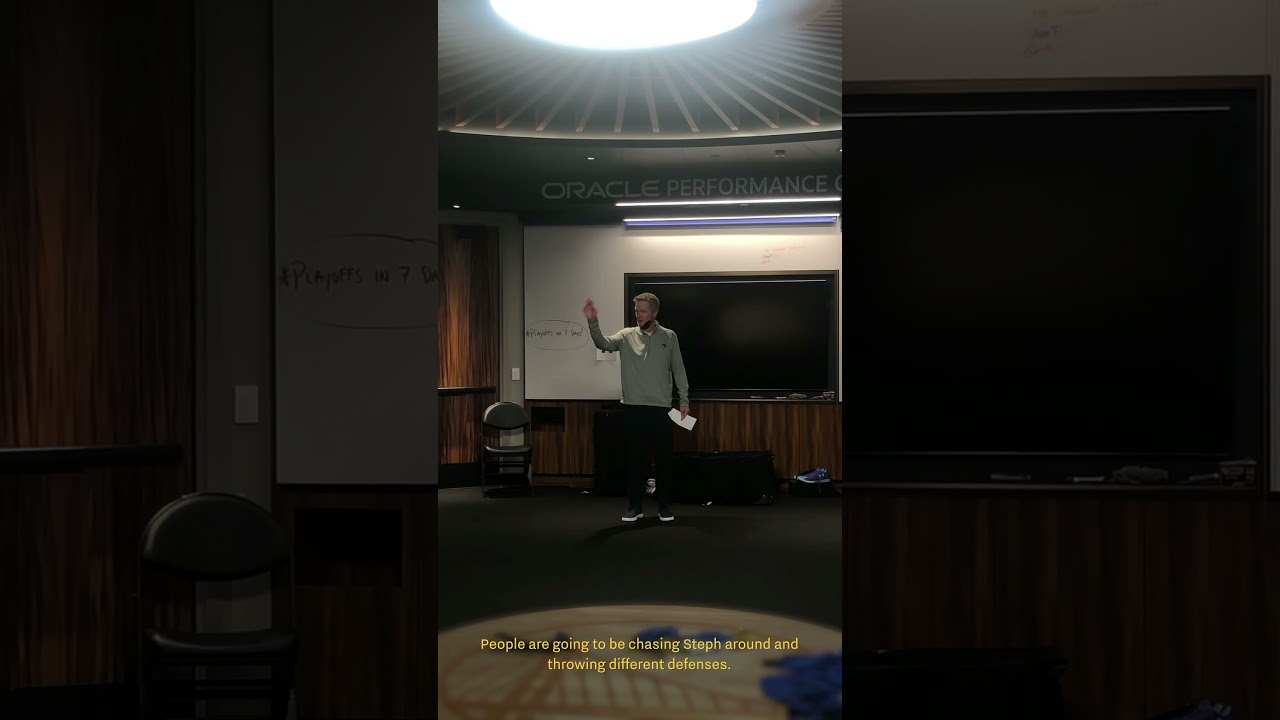 Behind the Scenes: Steve Kerr Locker Room Speech after Comeback Win vs. Suns | #shorts
