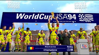 PES 6 World Cup USA 94 Romania VS Germany World Cup Final