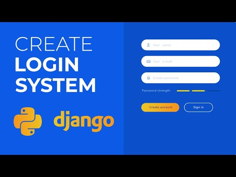 How to Create a Login System in Python Using Django? Python Projects