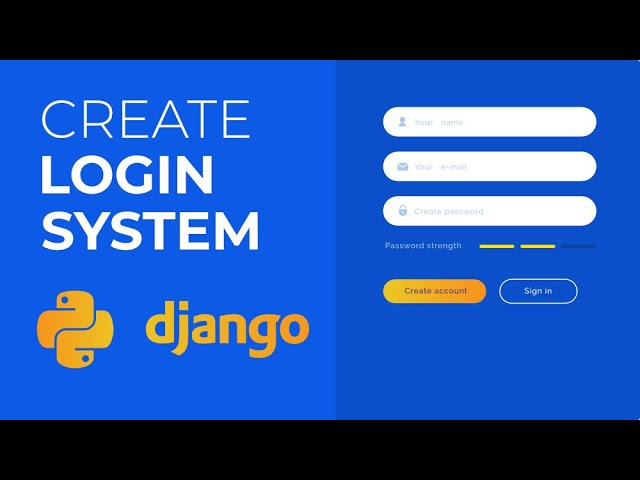 How to Create a Login System in Python Using Django?   Python Projects   GeeksforGeeks