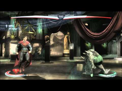 INJUSTICE GODS AMONG US-SUPERMAN COMBOS+TUTORIAL+SPECIAL ENDING |