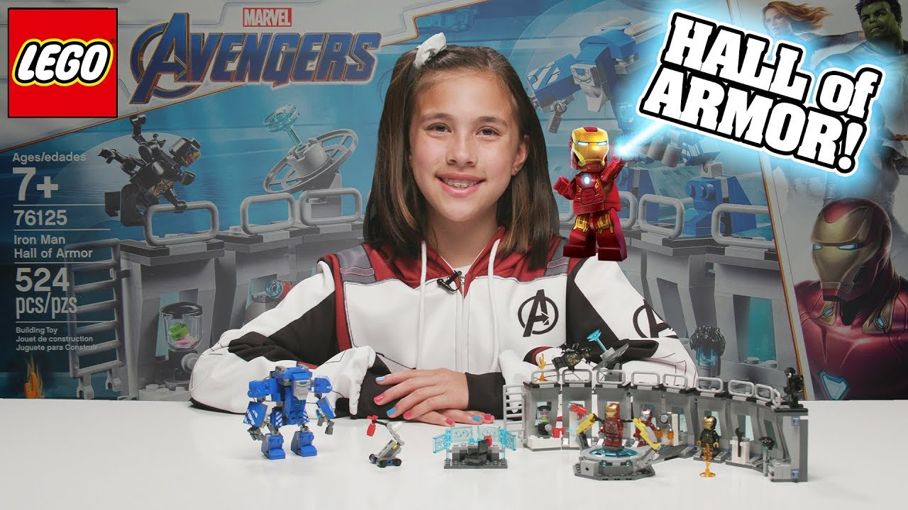 IRON MAN HALL OF ARMOR!!! LEGO Avengers Endgame Set 76125 - Hulkbuster Time-lapse Build & Review!