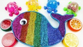 Mixing All My Slime Smoothie   Baby Shark Nursery Rhymes Kids Songs   Baby Shark Song #KidsMonster