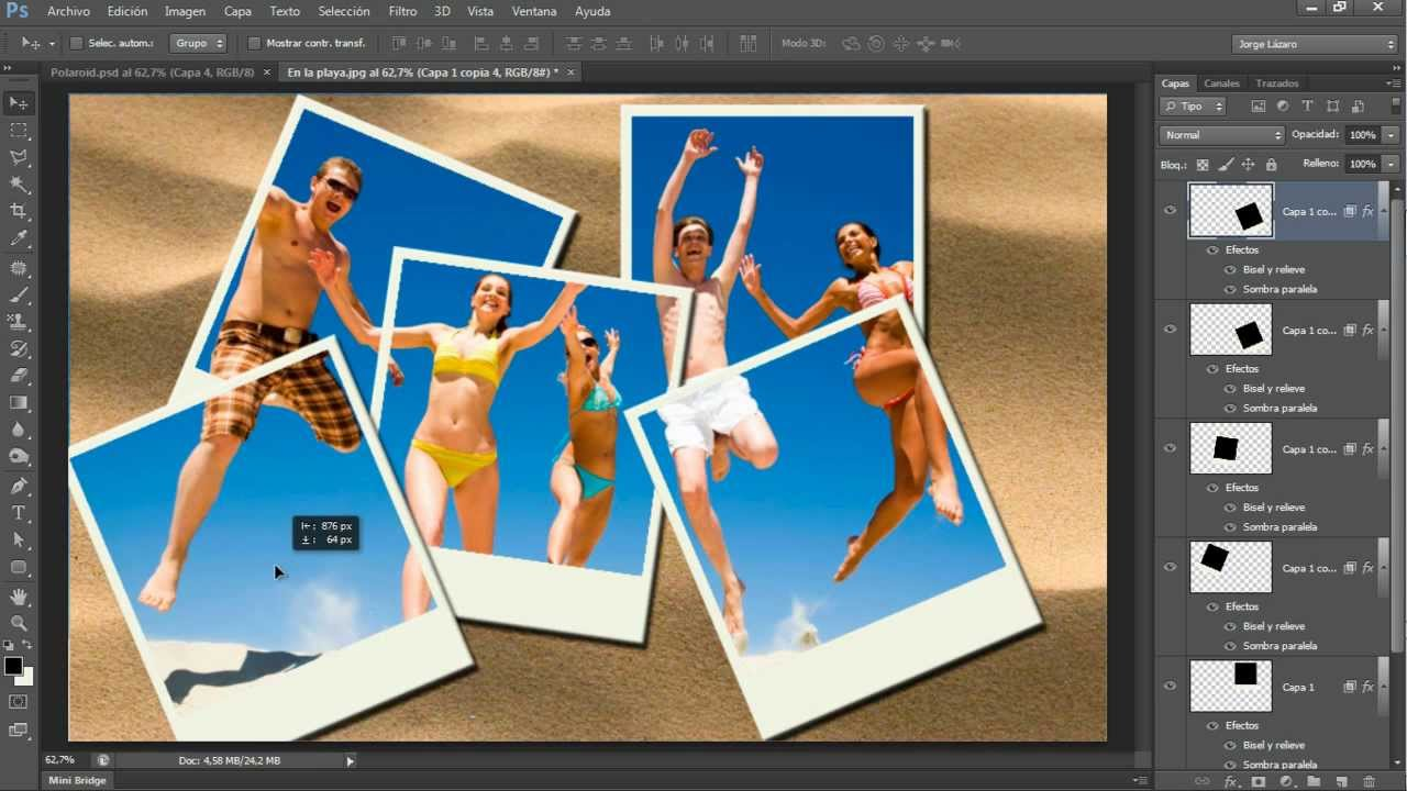Cómo hacer el efecto Polaroid en Photoshop - YouTube