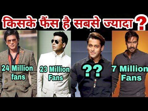 Who is Bollywood's most popular hero | Top 10 Popular Actor in Bollywood | Salman Khan | Akshay