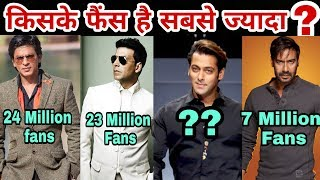 Who is Bollywood's most popular hero | Top 10 Popular Actor in Bollywood | Salman Khan | Akshay 2017 Video