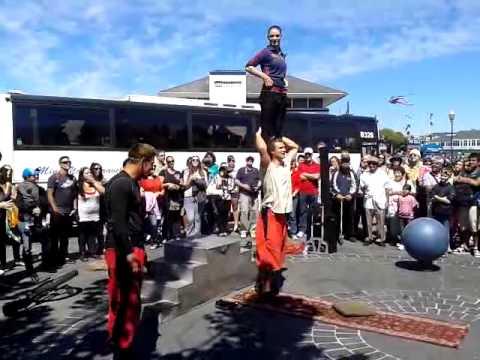 San Francisco street acrobats