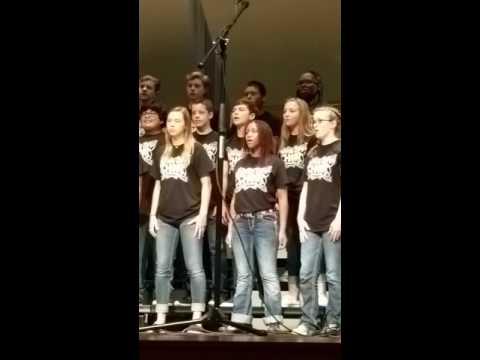 Royse City Middle School choir. Leah Padilla dancing..