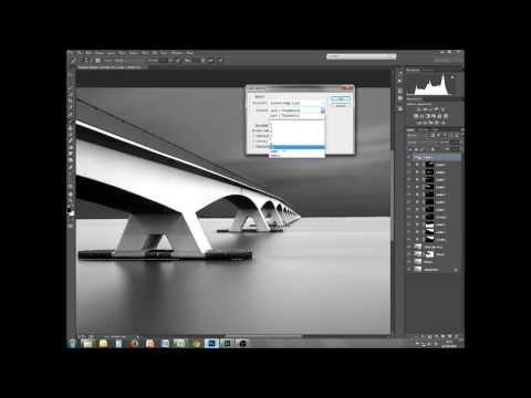 B&W architectural landscape processing tutorial