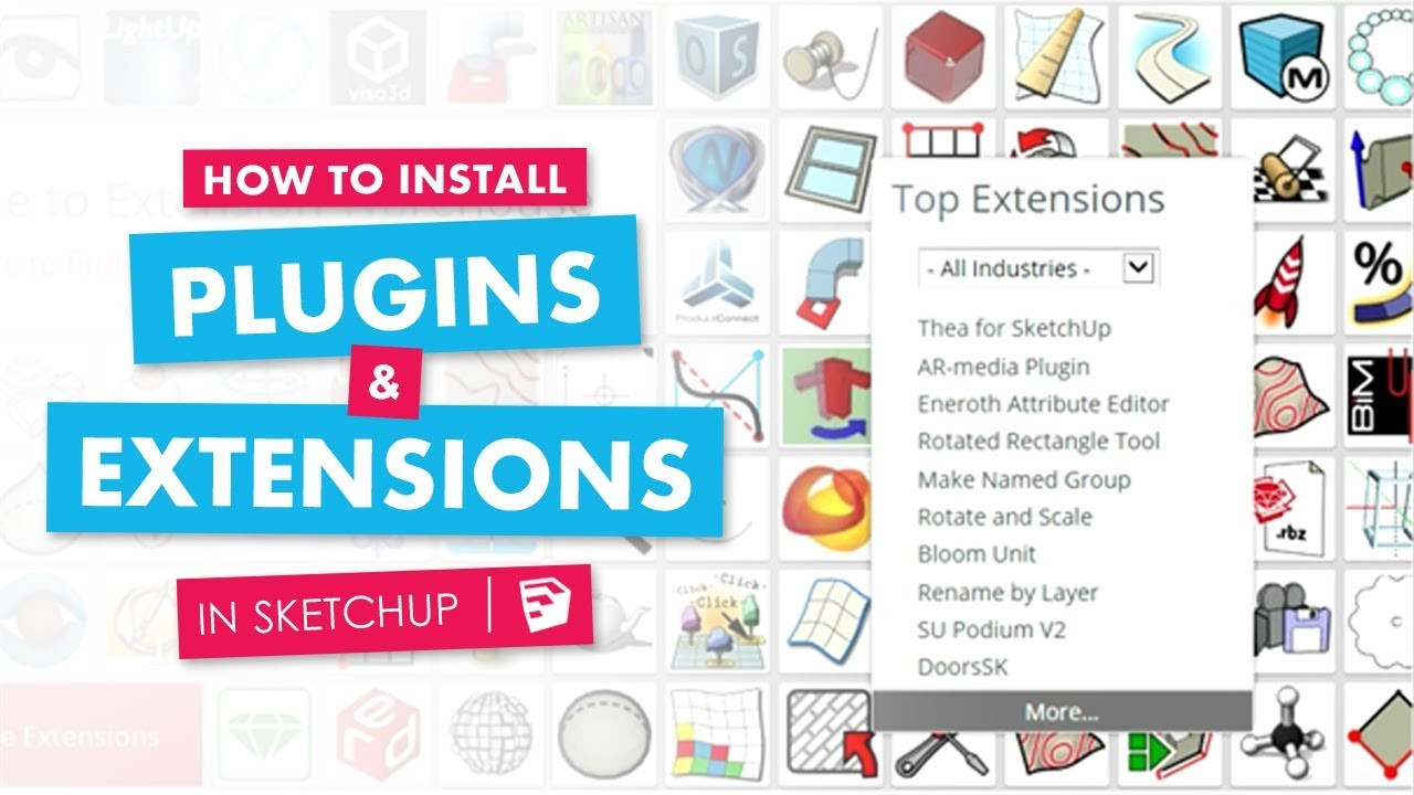 How to Install Plugins, and Extensions in Sketchup (software)