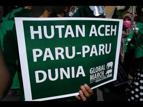 Global March for Elephant & Rhino Aceh