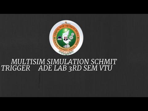 [VTU] MULTISIM Simulation SCHMITT TRIGGER 3rd sem(CBCS SCHEME)