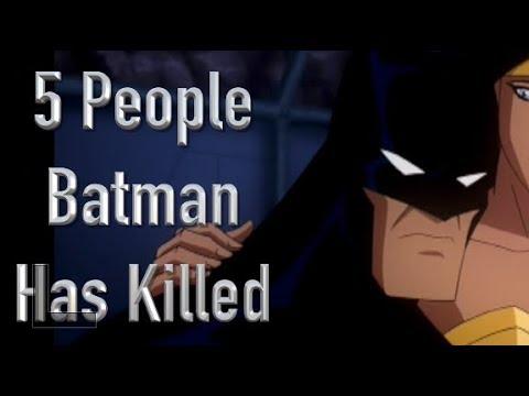 5 People Batman Has Killed