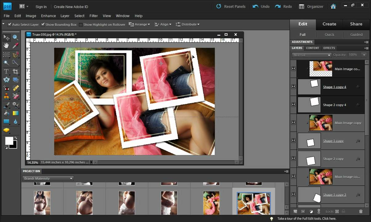 Photo Collage Effect With Photoshop Elements