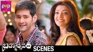 Mahesh Babu Falls for Kajal Aggarwal | Brahmotsavam Telugu Movie Scenes | Samantha | Pranitha