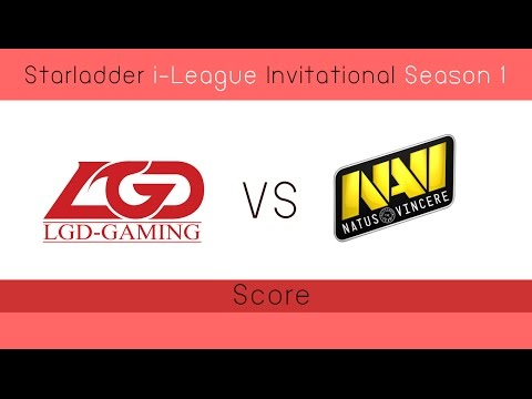 Dota 2 LGD vs Navi 0:0 (Starladder i-League Invitational Season 1) EP.1