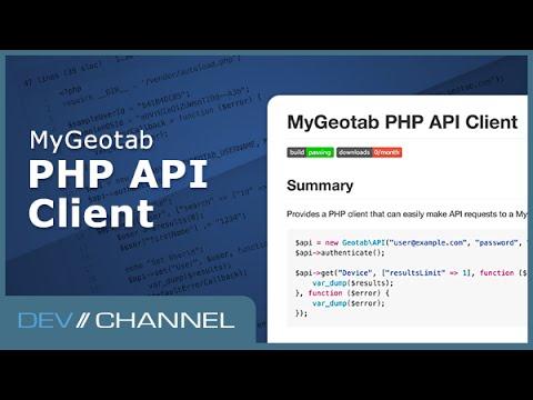 MyGeotab PHP API Client Dev Channel Videos