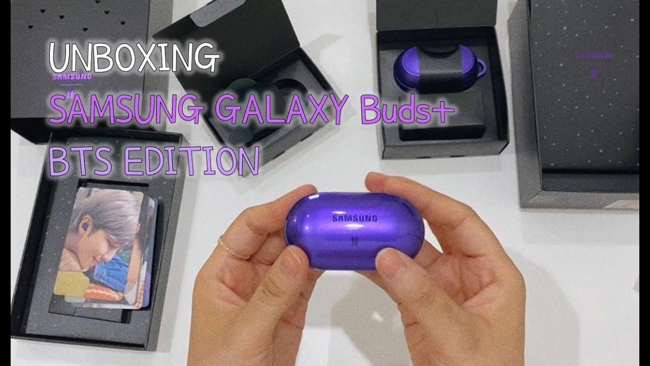 ENG/UNBOXING SAMSUNG GALAXY Buds+ BTS EDITION / 버즈플러스 방탄소년단 에디션 - YouTube