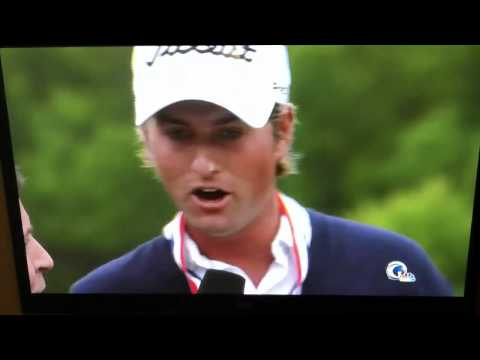 Webb Simpson interview interruption at the 2012 US Open