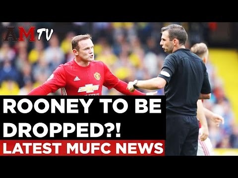 Wayne Rooney To Be Dropped?!   Latest Manchester United News