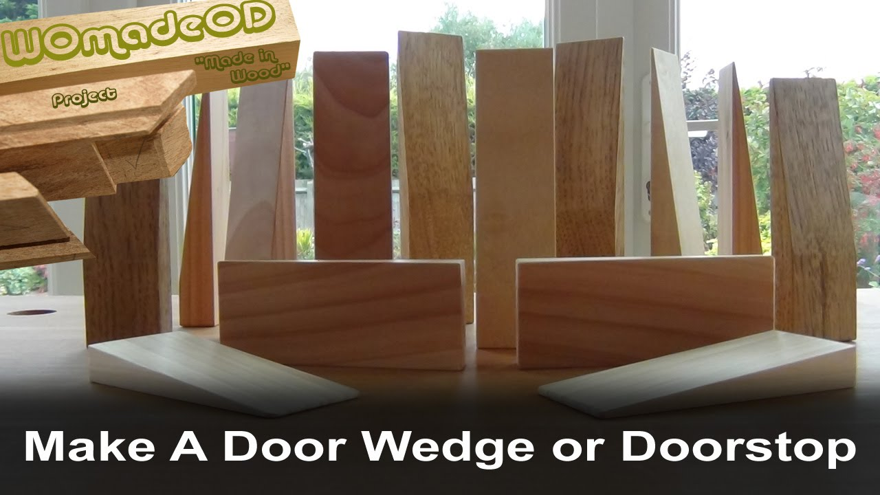 Make A Door Wedge or Doorstop - YouTube